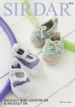 Sirdar Snuggly Baby Crofter DK & Snuggly DK  - 4870 Shoes Knitting Pattern